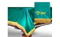 Чехол для б/стола 8-2 (зеленый с желтой бахромой, без логотипа)