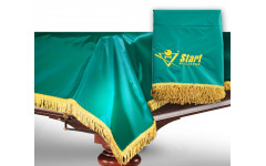 Чехол для б/стола 12-2 (зеленый с зеленой бахромой, без логотипа)