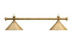 Лампа на два плафона «Elegance» (матово-бронзовая штанга, матово-бронзовый плафон D35см)