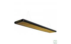 Лампа плоская люминесцентная «Longoni Nautilus» (черная, золотистый отражатель, 320x31x6см)